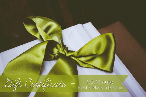 Gift Certificate for 30 Minute Psychic Session with Ann Bibbey