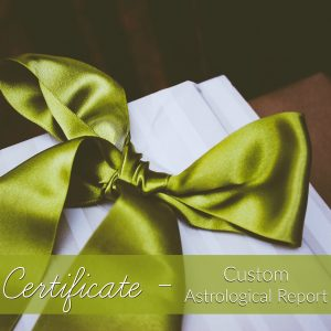 Custom Astrological Report with Ann Bibbey Gift Certificate